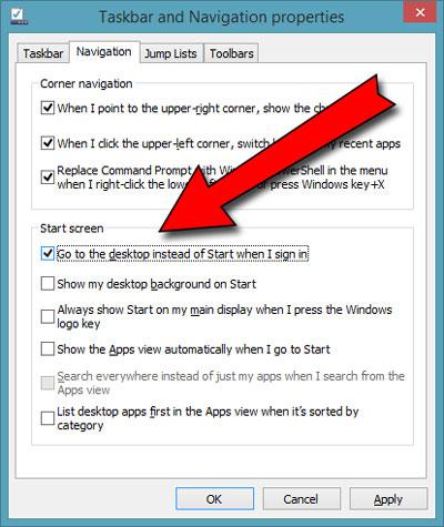 accesso diretto al desktop