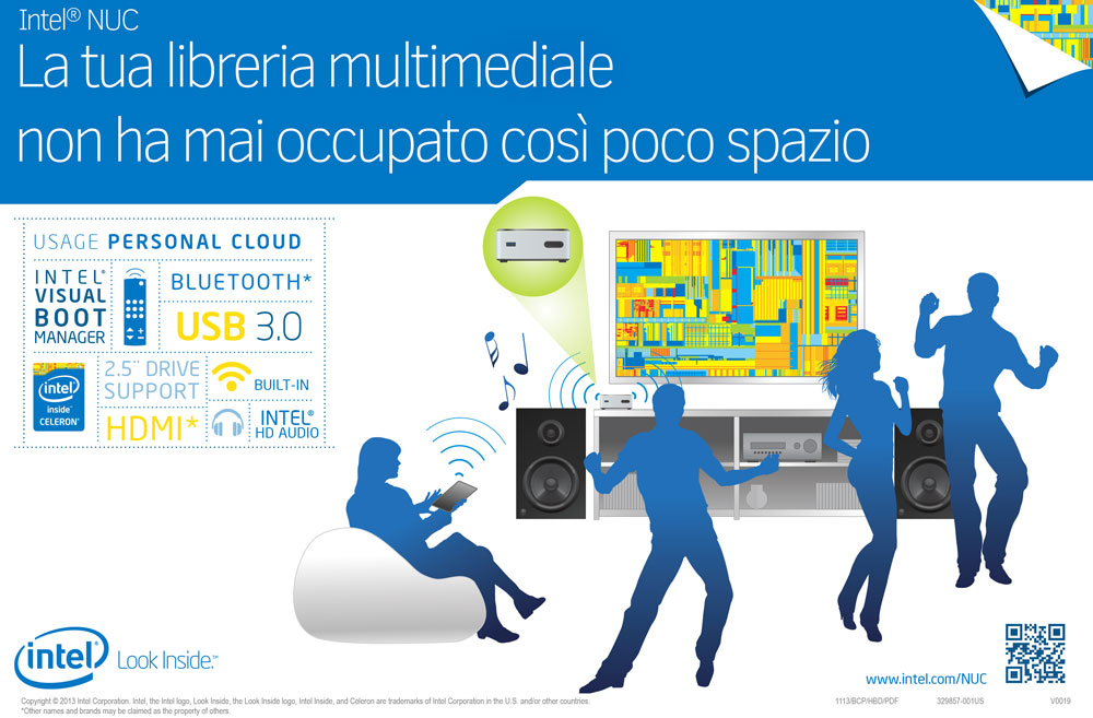 Mini PC Intel NUC per il multimedia
