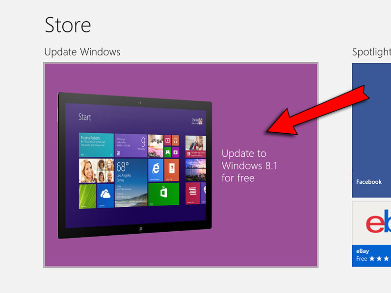 windows update da store