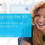 Fine Supporto per Windows XP, non rimanere indietro