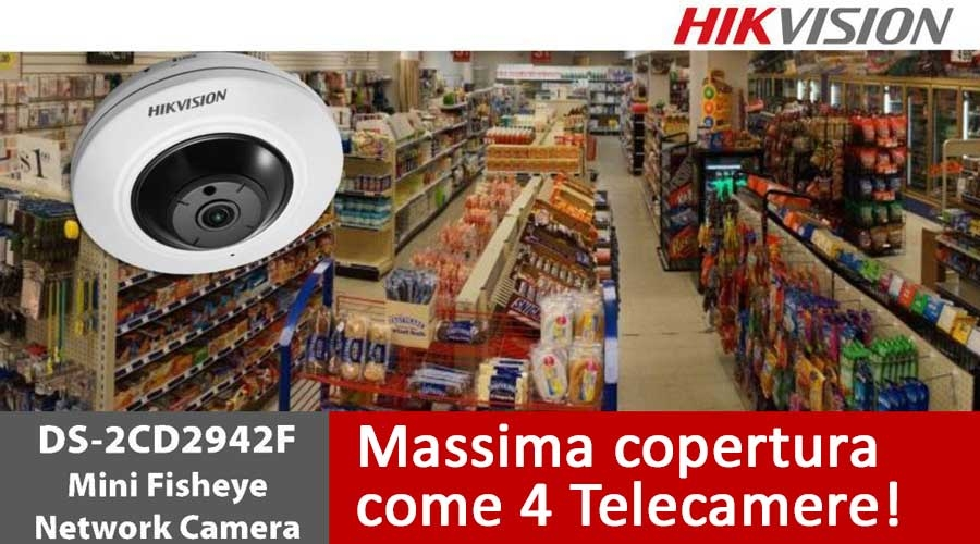 Telecamera panoramica Hikvision Raptor Fisheye