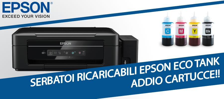 Epson eco tank, stampanti con serbatoi ricaricabili