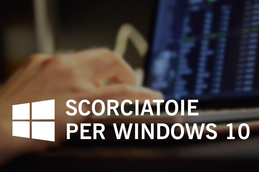 Scorciatoie di sistema per Windows 10